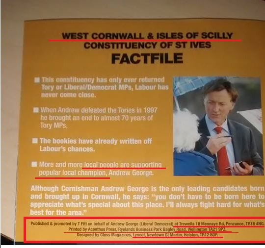What not to do on campaign leaflets part 4
